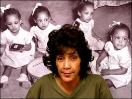 Catherine Fultz Griffin and her three sisters were born in Annie Penn Hospital in Reidsville on May 23, 1946 and quickly became the famous Fultz Quads, the only identical quadruplets in the world. (July 2002) photo by James Parker